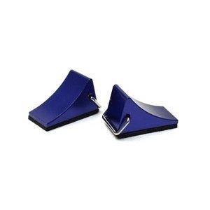 Racers Edge . REG 1/10 Scaler Aluminum Wheel Chocks (pr) - Blue
