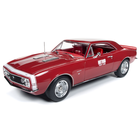 American Muscle Diecast . AMD 1/18 1967 Chevrolet Camaro SS Test Car (Hot Rod Magazine) - Red w/White Nose Stripe