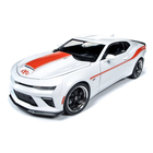 Auto World . AWD 1/18 2018 Chevrolet Yenko S/C - White w/Hugger Orange Stripes (LIMITED EDITION RUN)