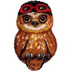 EURO CRAFTS . ECS Ari (Owl) Latch Hook Rug Art Nature Animals Calgary