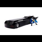 Jada Toys . JAD 1/24 Animated Series Batmobile W/Batman Figure