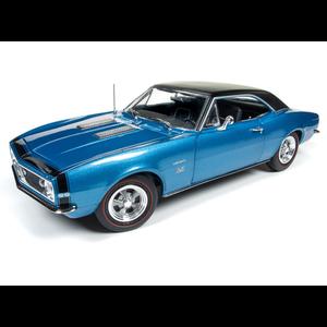 American Muscle Diecast . AMD 1/18 1967 Camaro Hardtop SS (50th Anniversary) - Marina Blue