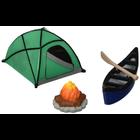 Bakemark . BKM Fireside Camping - Cake Topper