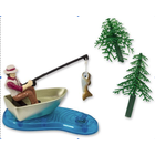 Bakemark . BKM Fisherman with Action Fish - Cake Topper