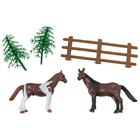 Bakemark . BKM Horses with Fence - Cake Topper