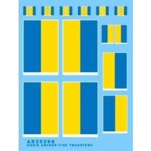 Archer Fine Transfers . AFT 1/35 Ukrainian Flags