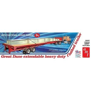 AMT\ERTL\Racing Champions.AMT 1/25 Great Dane Flatbed Trailer