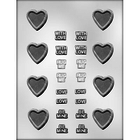 CK Products . CKP Heart & Messages Chocolate Mold