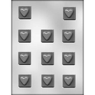 """CK Products . CKP 1-1/4"""" Heart On Square Chocolate Mold"""