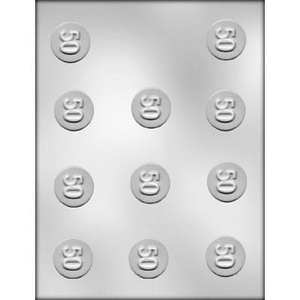 "CK Products . CKP 1-1/4"" Number 50 Mint Chocolate Mold"