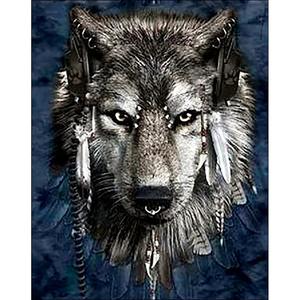 Collection D'Art . CDA Wolf Diamond Embroidery/Printed/Gem Kit 48X38cm