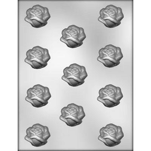 """CK Products . CKP 1-1/2"""" Open Rose Chocolate Mold"""