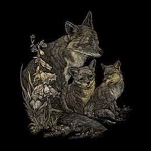 Royal (art supplies) . ROY Gold Engraving Fox And Cubs