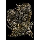 Royal (art supplies) . ROY Gold Engraving Owls Nature Animals Art Calgary