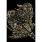 Royal (art supplies) . ROY Gold Engraving Owls