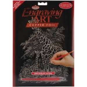 Royal (art supplies) . ROY Engraving Art Giraffe And Baby