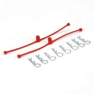 Du Bro Products . DUB Body Klip Retainers Red