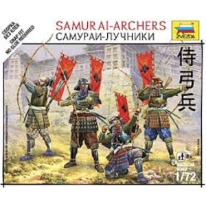 Zvezda Models . ZVE 1/72 SAMURAI-ARCHERS SNAP KIT