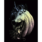 Royal (art supplies) . ROY Holographic Engrave Art Proud Unicorn Nature Animals Fantasy Calgary