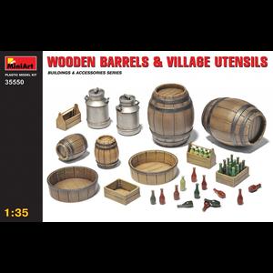 Miniart . MNA 1/35 Wooden Barrels/Utns