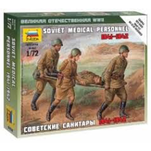 Zvezda Models . ZVE 1/72 SOVIET MEDICAL PERSONNEL