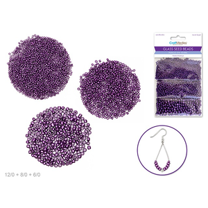 MultiCraft . MCI Glass Seed Beads - Purple Haze