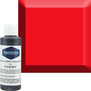 AmericaColor . AME AmeriColor 4.5oz Soft Gel - Tulip Red