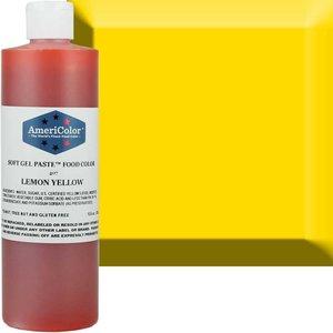 AmericaColor . AME AmeriColor 4.5oz Soft Gel – Lemon Yellow