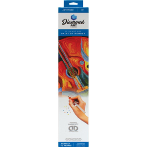 "Leisure Arts . LSA Guitar Diamond Art Advanced Kit 14.57""X18.5"""