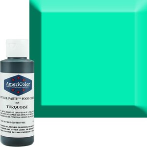 AmericaColor . AME AmeriColor 4.5oz Soft Gel – Turquiose