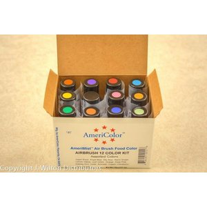 AmericaColor . AME AmeriMist .65oz -12 Asst. Airbrush Colors