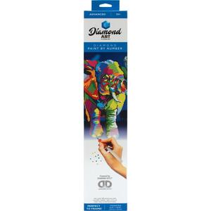 "Leisure Arts . LSA Elephant Diamond Art Advanced Kit 14.57""X18.5"""