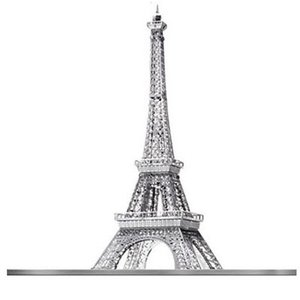 Fascinations . FTN Metal Earth - Eiffel Tower