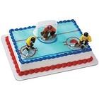Bakemark . BKM Boys Hockey Face Off Set - Cake Topper
