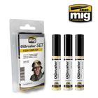 Ammo of MIG . MGA FLESH TONES OILBRUSHER SET