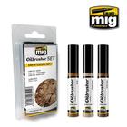 Ammo of MIG . MGA Earth Colors Oilbrushers Set