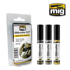 Ammo of MIG . MGA Bright Metal Colors Oilbrushers Set