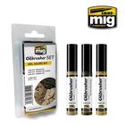 Ammo of MIG . MGA Soil Colors Oilbrushers Set