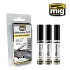 Ammo of MIG . MGA Bare Metal Colors Oilbrushers Set
