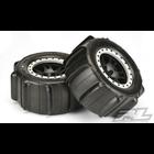 "Pro Line Racing . PRO Sling Shot Pro-Loc Tires, 4.3"", Mounted on Impulse Pro-Loc Black Wheels, w/ Stone Gray Rings, (2pcs)"