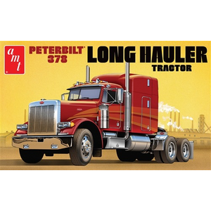 AMT\ERTL\Racing Champions.AMT AMT Peterbilt 378 Long Hauler Semi Tractor 1:24 Scale Model Kit