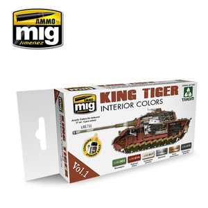 Ammo of MIG . MGA KING TIGER INTERIOR TAKOM COLORS SET