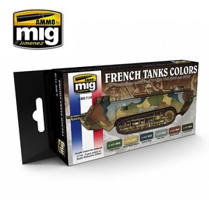 Ammo of MIG . MGA WW1/WW2 FRENCH CAMO ACRYLIC SET
