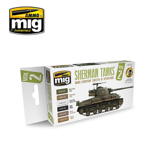 Ammo of MIG . MGA Sherman Tanks Vol. 2 (WWII European Theater of Operations) Set