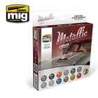 Ammo of MIG . MGA Metallic Colors Acrylic Set