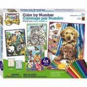 Dimensions . DMS Friendly Animals Variety Pack - Pencil by Number