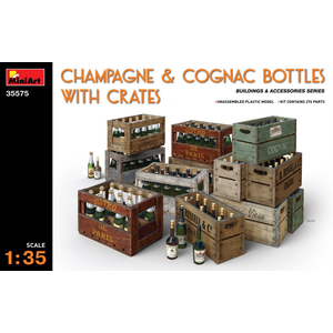 Miniart . MNA 1/35 Champagne & Cognac Bottles With Crates