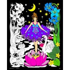 Stuff To Color . SFC 16X20 Velvet Poster Night Princess Nature Animals Calgary