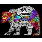 Stuff To Color . SFC 16X20 Velvet Poster Inner Nature Bear Animals Colourable Calgary