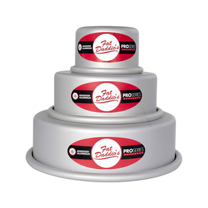 Fat Daddio's  . FAT 3 pc Round Cake Pan Set 6 x 4, 8 x 4, 10 x 4